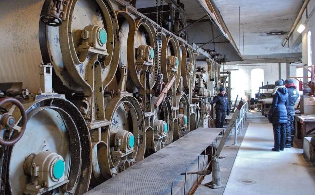 Papirmaskinen i Klevfos Industrimuseum