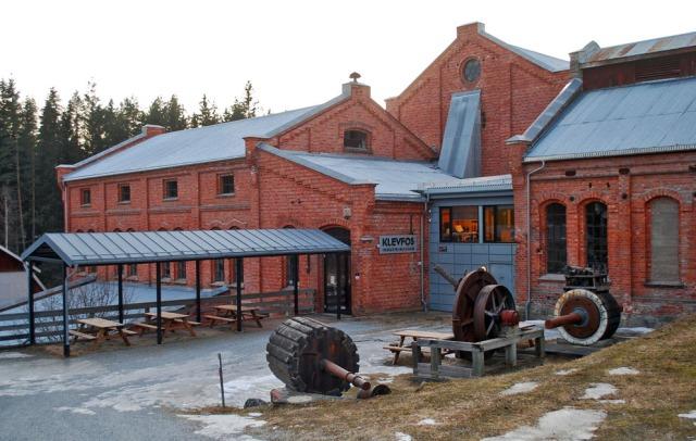 Klevfos industrimuseum - Norges eneste bevarte anlegg for gammel kombinert cellulose- og papirproduksjon, i drift fra 1888 til 1976